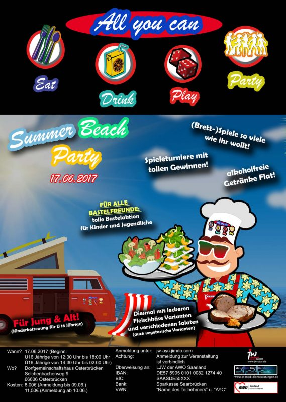 17.06.2017 – Summer-Beachparty
