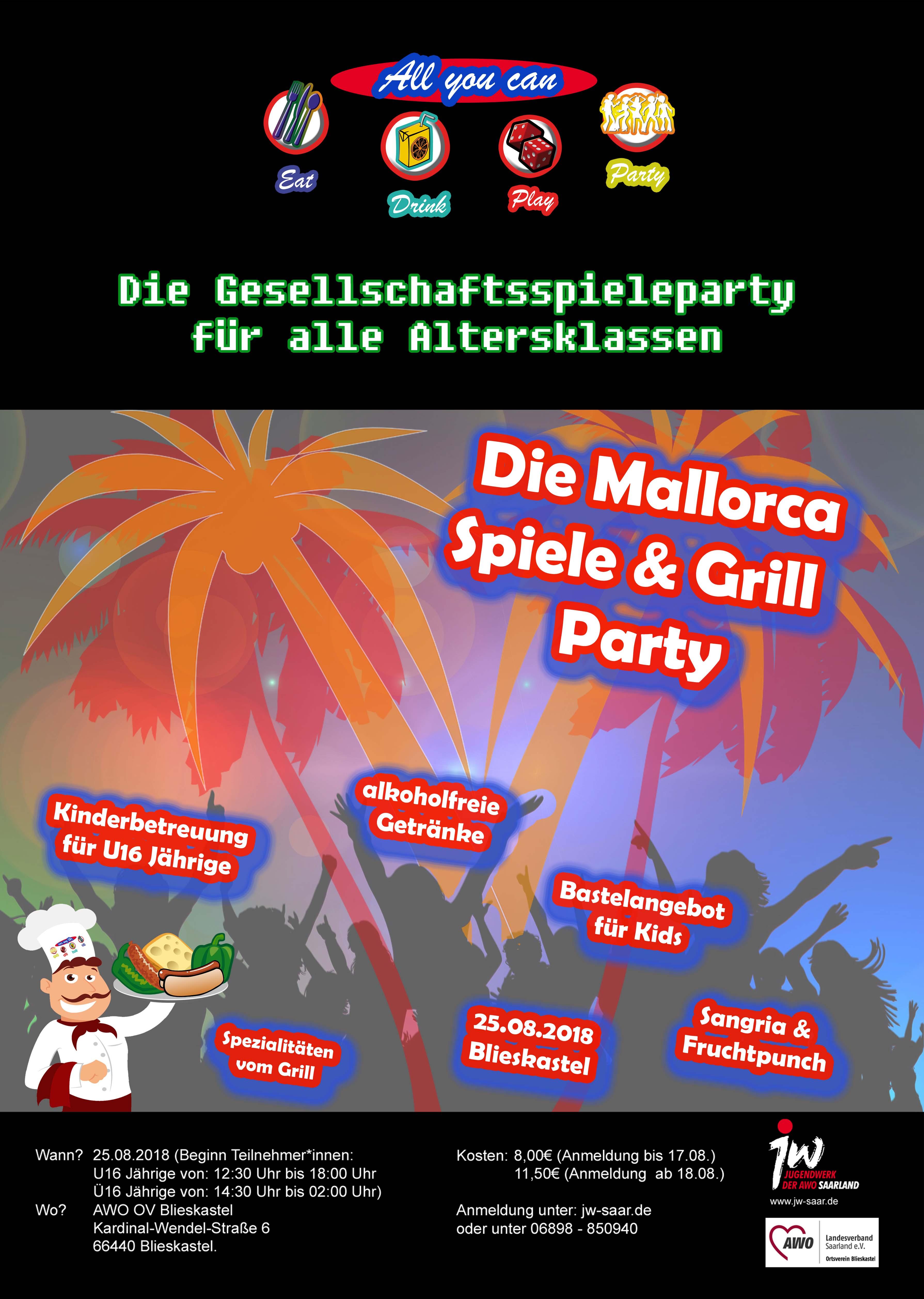 4. AYC Spieleparty – Die Mallorca Spiele- und Grillparty