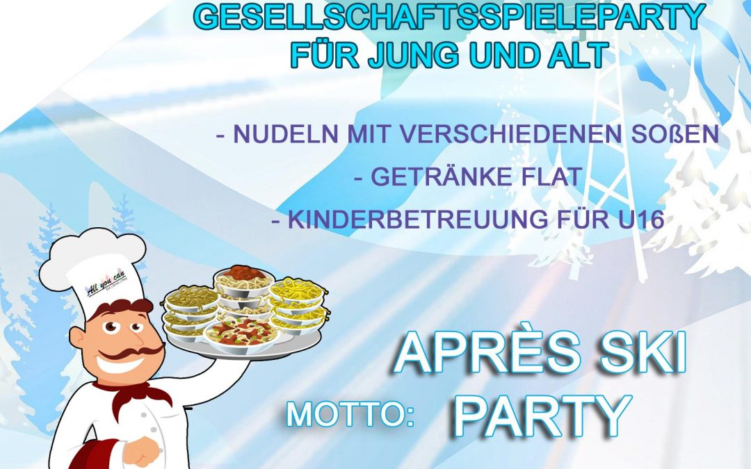 1. AYC Spieleparty – Apres Ski Party in Ludweiler