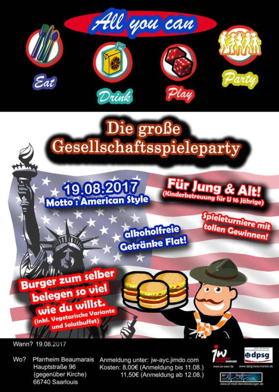 19.08.2017 – Summer-Beachparty – USA-Edition