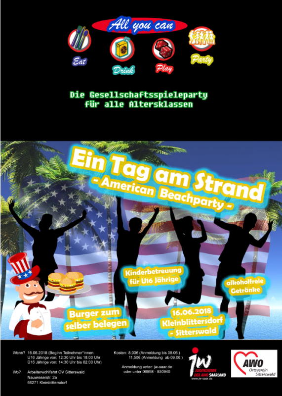 3. AYC Spieleparty -American Beachparty