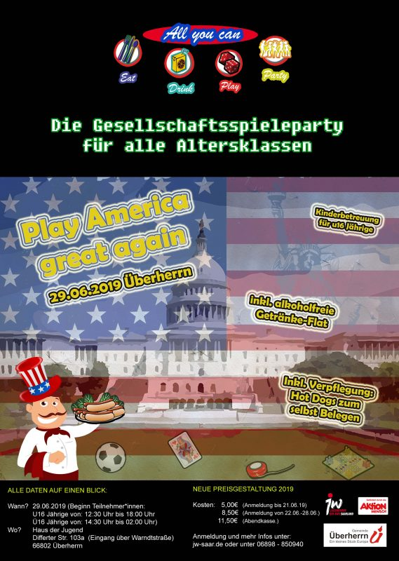 3. AYC Spieleparty – Play America great again